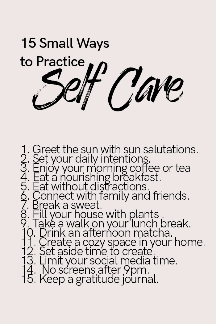 15 self care practices infographic