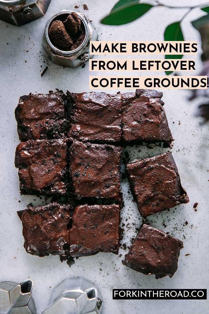 Leftover Espresso Grounds Brownies