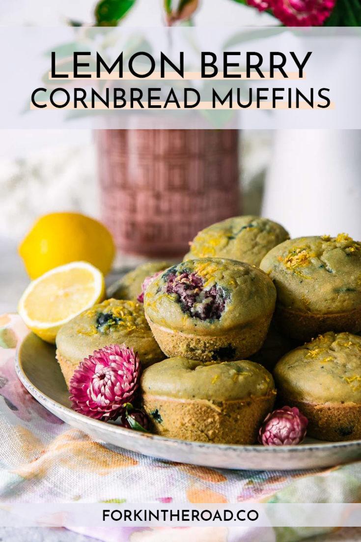 Lemon Berry Cornmeal Muffins (Dairy-Free)