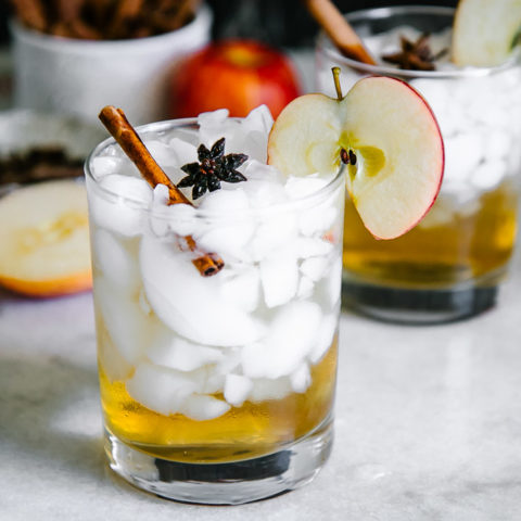 Cinnamon Apple Cider Spritzer